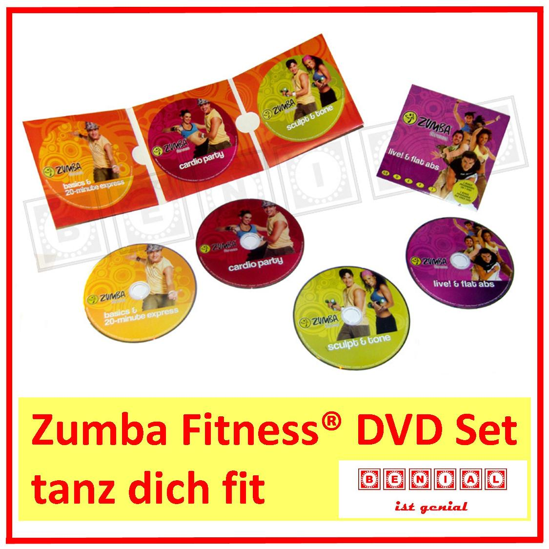 zumba fitness dvd programm set 4x dvd party tanz fitness. Black Bedroom Furniture Sets. Home Design Ideas